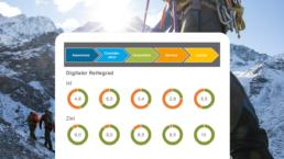 Abbildung digitale Reifegrade für Ist und Ziel